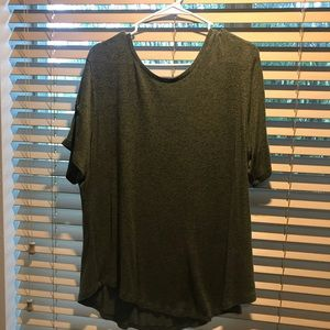 Old Navy XL olive green short sleeve top